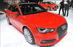 Audi A3 e-tron red color