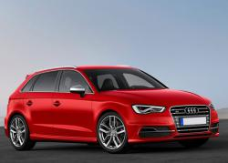 Audi S3 Sportback red color