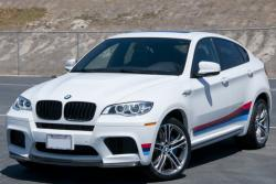 BMW X6 M 2013 white color