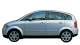 Audi A2 / Minivan / 5 doors / 2000-2005 / Left view