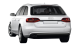 Audi A4 Avant / Wagon / 5 doors / 2008-2012 / Back-left view