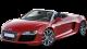 Audi R8 Spyder / Convertible / 2 doors / 2010-2013 / Front-left view