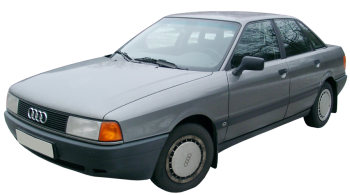 Audi 80 / Sedan / 4 doors / 1986-1991 / Front-left view