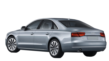Audi A8 / Sedan / 4 doors / 1994-2013 / Back-left view
