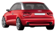 Audi A1 / Hatchback / 3 doors / 2010-2012 / Back-left view