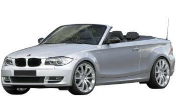 BMW 1-series Cabrio / Convertible / 2 doors / 2008-2012 / Front-left view