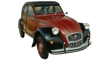 Citroen 2CV / Sedan / 4 doors / 1970-1987 / Front-right view