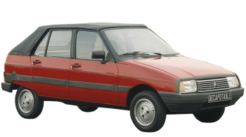 Citroen Visa Decouvrable / Convertible / 4 doors / 1984-1985 / Front-right view