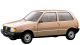 Fiat Uno / Hatchback / 3 doors / 1983-1995 / Front-left view