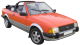 Ford Escort Cabrio / Convertible / 2 doors / 1984-1995 / Front-right view