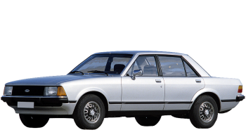 Ford Granada / Sedan / 4 doors / 1977-1985 / Front-left view