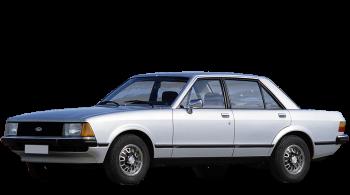 Ford Granada / Sedan / 4 doors / 1977-1985 / Front-left view