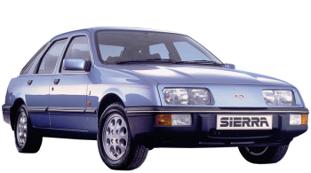 Ford Sierra / Sedan / 4 doors / 1982-1993 / Front-right view
