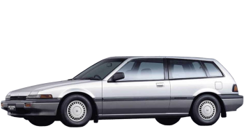 Honda Accord Aero Deck / Hatchback / 3 doors / 1985-1989 / Front-left view