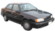 Hyundai Excel / Sedan / 4 doors / 1989-2000 / Front-right view