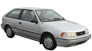 Hyundai Excel / Hatchback / 3 doors / 1989-2000 / Front-right view