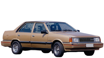 Hyundai Stellar / Sedan / 4 doors / 1984-1989 / Front-right view