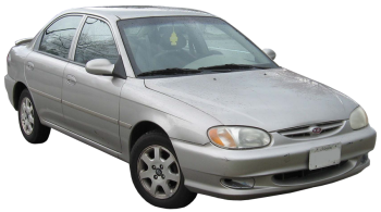 KIA Mentor / Sedan / 4 doors / 2001-2003 / Front-right view
