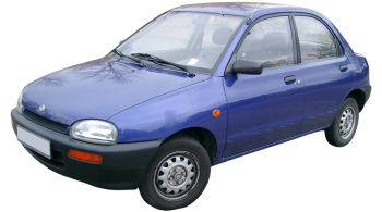 Mazda 121 / Sedan / 4 doors / 1993-2001 / Front-left view