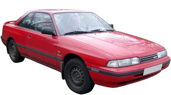 Mazda 626 Coupe / Coupe / 2 doors / 1989-1993 / Front-right view