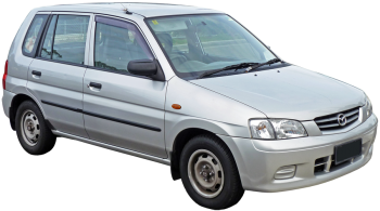 Mazda Demio / Minivan / 5 doors / 1998-2003 / Front-right view