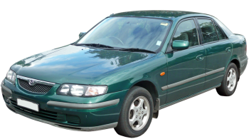 Mazda 626 / Sedan / 4 doors / 1997-2002 / Front-right view