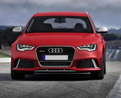 Audi RS6 Avant red color