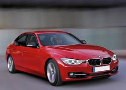 BMW 3 Series red color